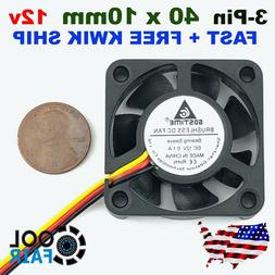 12V 40mm Cooling Fan 2/3pin DC Computer Case CPU Cooler 40x4