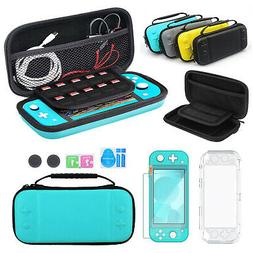 For Nintendo Switch Lite Carrying Case Bag+Clear Cover Shell