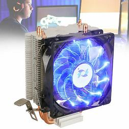 3Pin LED CPU Cooler fan Heatsink For Intel LGA 775/1150/1156