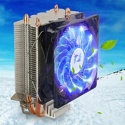 Blue LED CPU Cooler Fan Heatsink for Intel LGA1155 /775/AMD