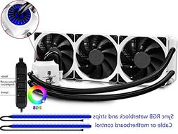 DEEPCOOL Captain 360EX RGB White, AIO Liquid CPU Cooler, Syn