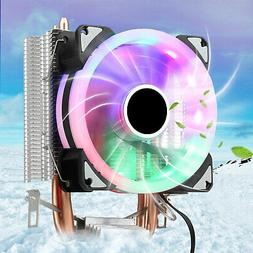 RGB LED CPU Cooler Fan For Intel LGA 1151/775/AM3/AM2/Core i