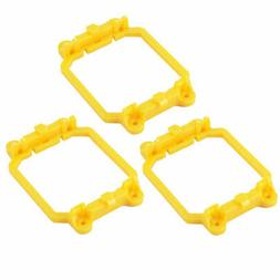 CPU Fan Retainer Bracket Stand Yellow 3pcs for ADM AM2 AM3 F