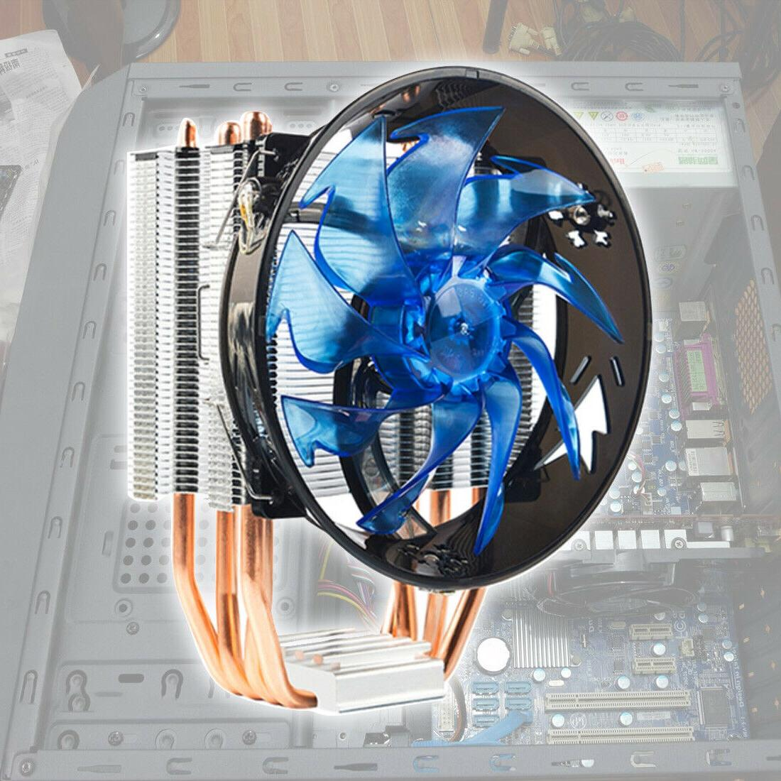 4 heat pipes cpu cooler cooling fan
