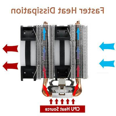 CPU 4 Heatpipes 4 Fans 90mm 775/1155/1156/1150