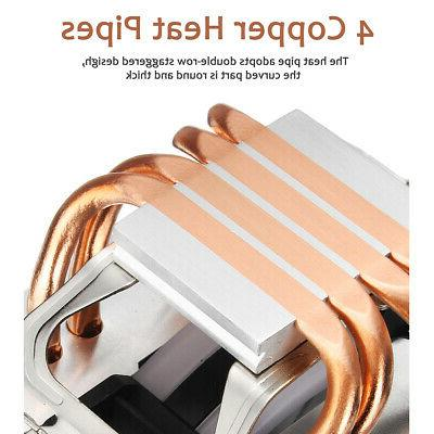 CPU Cooler Heatpipes 4 LED RGB Fans 90mm 775/1155/1156/1150