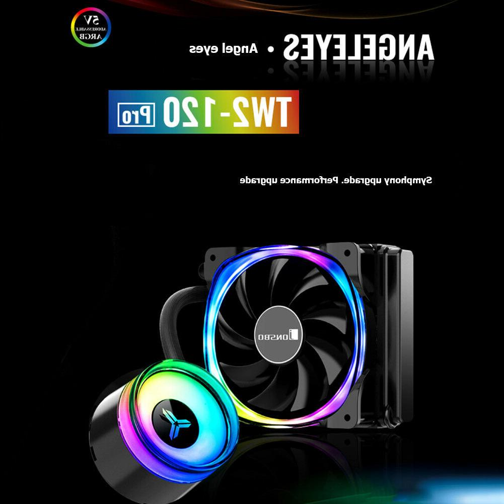 LED Case PC Cooler 120mm Water Cooling