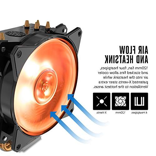 Cooler Master RGB CPU CDC Heat Pipes Fan 120mm Intel/AMD Support