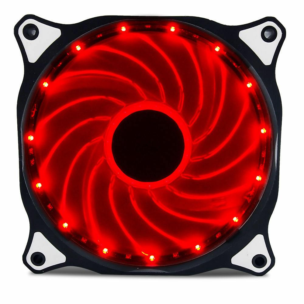 Vetroo Red 120mm 15LED Cooling Case Fan for PC Computer,Quie