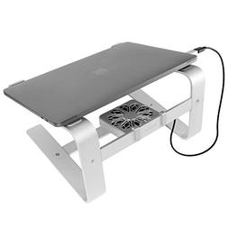 Macally Laptop Stand with Cooling Fan for Desk | Sturdy Alum