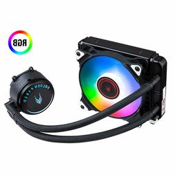 Liquid CPU Cooler CPU Water Cooler With RGB PWM Fans For Int