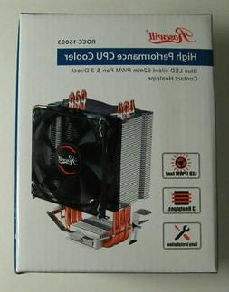 New Rosewill High Performance CPU Cooler 3 Heatpipes LED
