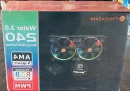 NEW Thermaltake WATER 3.0 Dual Riing RGB Pressure Fans 240 A