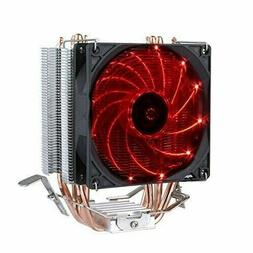 upHere Quiet CPU Cooler with 4 Direct Contact Heatpipes, Red