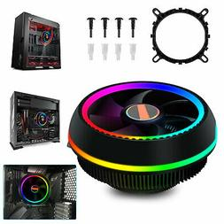 RGB Color CPU Cooler LED Air Heatsink Intel AMD PC Cooling D