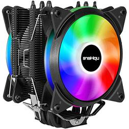 upHere New RGB CPU Cooler with 4 Direct Contact Heatpipes,Du