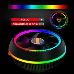 RGB LED CPU Cooler Fan Heatsink for Intel 1156/1155/1151/115