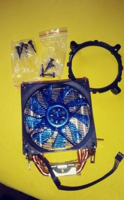 UpHere CPU Cooler With 4 Direct Contact  Heatpipes Blue LED