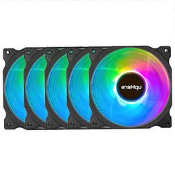 upHere Wireless RGB LED 120mm Case Fan,Quiet Edition High Ai